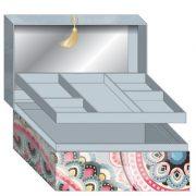 Kimmidoll tükrös ékszertartó - Haruyo, 15x12,5x13cm