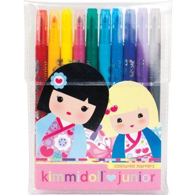 Kimmidoll Kétvégű filctoll – 10-es csomag