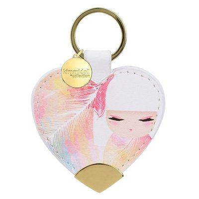 Kimmidoll Kulcstartó, Szív – Mizuyo, 6,5cm széles