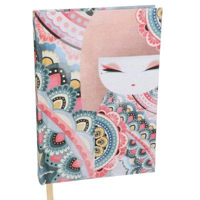 Kimmidoll Jegyzet füzet - Haruyo - 13x18x1,8cm, 192 csíkozott oldal, vászon borítás