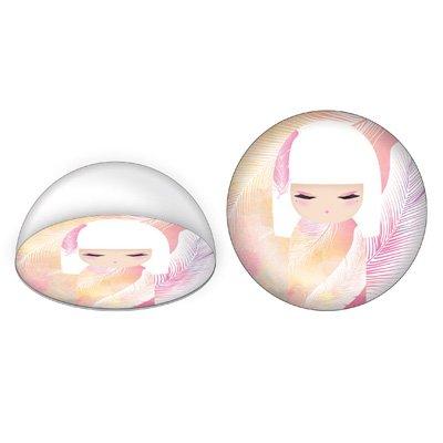 Kimmidoll Papír nehezék - Mizuyo, üveg dóm, gyönyörű csillogás a napfényben